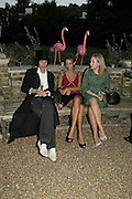 Henry Thomas, Rose Hanbury and Davina Blair, Stephen Jones Summer Hat party to celebrate 25 years of Milllinery. Debenham House, 8 Addison Rd. Holland Park, London. 13 July 2006.  ONE TIME USE ONLY - DO NOT ARCHIVE  © Copyright Photograph by Dafydd Jones 66 Stockwell Park Rd. London SW9 0DA Tel 020 7733 0108 www.dafjones.com