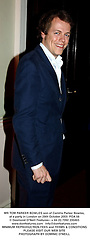 MR TOM PARKER BOWLES son of Camilla Parker Bowles, at a party in London on 29th October 2003.POA 58