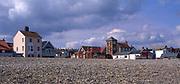 AWY799 Seafront and beach Aldeburgh Suffolk England