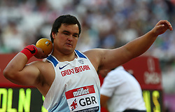 July 14, 2018 - London, United Kingdom - Scott Lincoln of Great Britain  and Northern Ireland  compete in the shot put.during Athletics World Cup London 2018 at London Stadium, London, on 14 July 2018  (Credit Image: © Action Foto Sport/NurPhoto via ZUMA Press)
