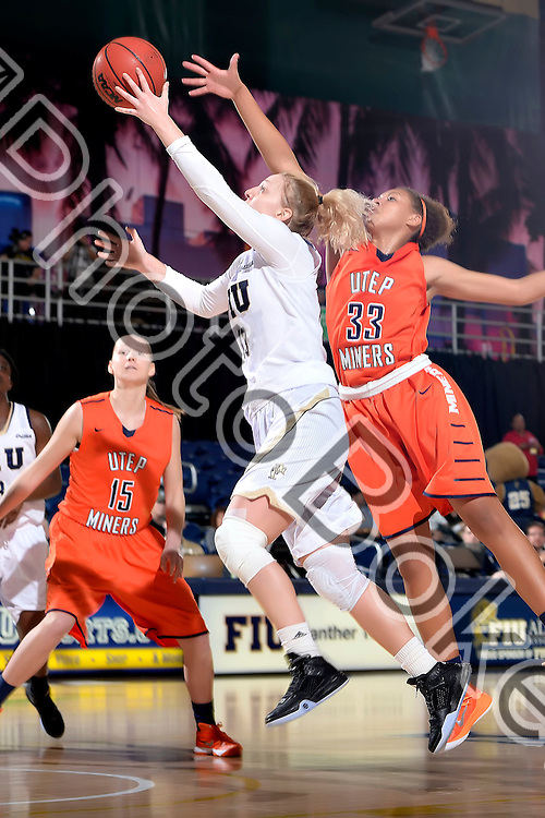 2016 January 23 - FIU's Janka Hegedus (13). <br /> Florida International University fell to UTEP, 57-69, at FIU Arena, Miami, Florida. (Photo by: Alex J. Hernandez / photobokeh.com) This image is copyright by PhotoBokeh.com and may not be reproduced or retransmitted without express written consent of PhotoBokeh.com. ©2016 PhotoBokeh.com - All Rights Reserved