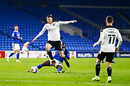 Barnsley FC's Mads Anderson (6) is tackled by Cardiff City's Sheyi Ojo (27) during the EFL Sky Bet Championship match between Cardiff City and Barnsley at the Cardiff City Stadium, Cardiff, Wales on 3 November 2020.