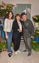 Left to right, Gala Gordon, Jane Birkin and Stephen Jones at the Belmond Cadogan Hotel Grand Opening, Sloane Street, London England. 16 May 2019. <br /> <br /> ***For fees please contact us prior to publication***