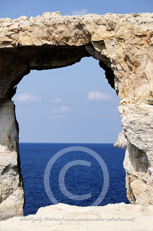 Zerka Tor, Azur Windwow, Gozo, Malta, Sued Europa, Mittelmeer, Mare Mediterraneum, Sotuh Europe, Mediterranean Sea