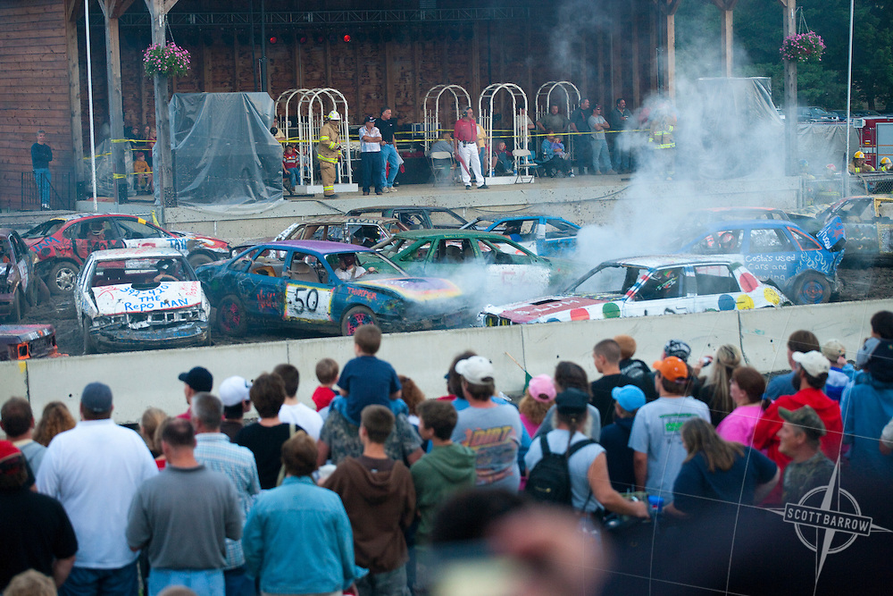Demolition Derby at the Columbia County Fair in Chatham, New York.
