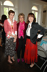 Left to right, LADY CHARLOTTE FRASER, JOSE FOLSECA and ROSIE BARTLETT at a lunch in aid of African Solutions To African Problems held at Il Bottaccio, 9 Grosvenor Place, London on 20th May 2008.<br />