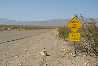 Sign on Trona-Wildrose Road, Panamint Valley, California