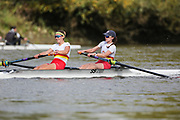 Crew: 87 - Brown / Metalli - Tideway Scullers School - W 2- Championship <br /> <br /> Pairs Head 2020