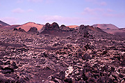 Malpais badlands volcanic landscape Parque Natural Los Volcanes, Yaiza, Lanzarote, Canary islands, Spain 1979