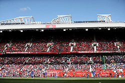 A general view of the match action during the Premier League match at Old Trafford, Manchester.