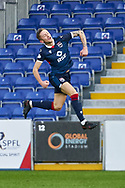 Charlie Larkin celebrates scorin during the Scottish Premiership match between Ross County FC and Aberdeen FC at the Global Energy Stadium, Dingwall, Scotland on 16 January 2021.