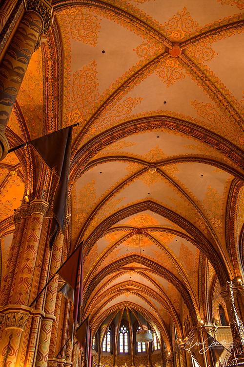 Matthias Church- interior, Budapest, Central Hungary, Hungary