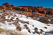 Fiery Furnace area, Arches National Park, Utah, winter