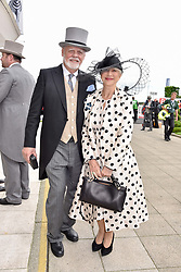 Dame Helen Mirren and her husband Taylor Hackford  at The Investec Derby, Epsom Racecourse, Epsom, Surrey, England. 02 June 2018.