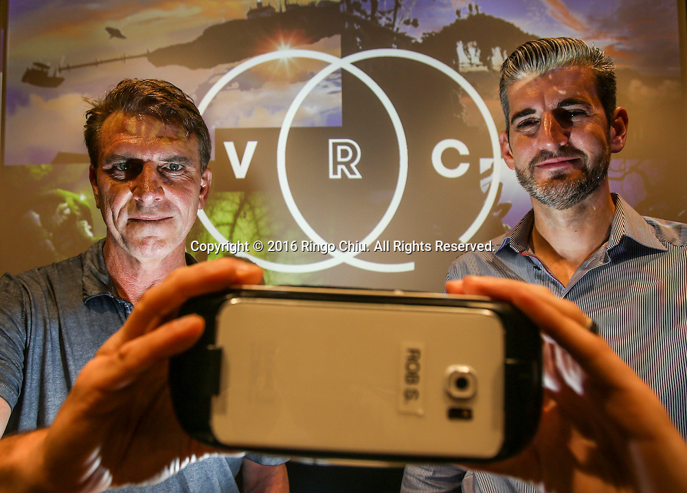 Robert Stromberg , left, and Chris Edwards, co-founders of Virtual Reality Company. (Photo by Ringo Chiu/PHOTOFORMULA.com)<br /> <br /> Usage Notes: This content is intended for editorial use only. For other uses, additional clearances may be required.