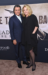 May 14, 2019 - Hollywood, California, U.S. - Ian McShane and Gwen Humble arrives for the premiere of HBO's 'Deadwood' Movie at the Cinerama Dome theater. (Credit Image: © Lisa O'Connor/ZUMA Wire)