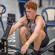 Edwin Wills  MALE HEAVYWEIGHT U17 2K Race #7  10:00am<br /> <br /> <br /> www.rowingcelebration.com Competing on Concept 2 ergometers at the 2018 NZ Indoor Rowing Championships. Avanti Drome, Cambridge,  Saturday 24 November 2018 © Copyright photo Steve McArthur / @RowingCelebration