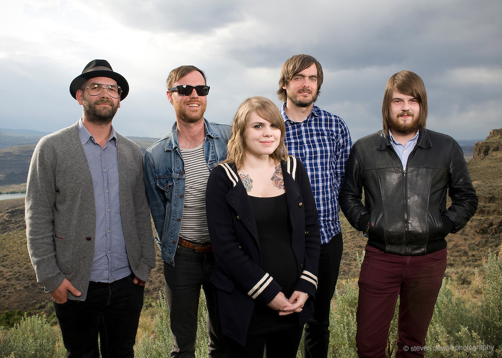 George, WA. - May 26th, 2012 Coeur de Pirate poses for a portrait backstage at the Sasquatch Music Festival in George, WA. United States