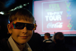 Watching promo video at VIP reception of FIFA World Cup Trophy Tour by Coca-Cola, on March 29, 2010, in BTC City, Ljubljana, Slovenia.  (Photo by Vid Ponikvar / Sportida)