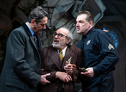 The Price <br /> by Arthur Miller <br /> 50th anniversary production presented by Theatre Royal Bath Productions and Jonathan Church Productions<br /> <br /> Wyndham's Theatre, <br /> London Great Britain <br /> Press photocall <br /> 7th February 2019 <br /> Adrian Lukis as Walter Franz <br /> David Suchet as Gregory Solomon <br /> Brendan Coyle as Victor Franz <br /> <br /> <br /> Photograph by Elliott Franks