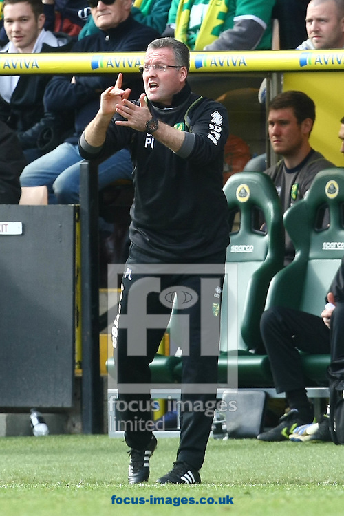 Picture by Paul Chesterton/Focus Images Ltd.  07904 640267.26/02/12.Norwich Manager Paul Lambert during the Barclays Premier League match at Carrow Road Stadium, Norwich.