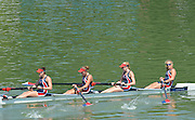 Plovdiv BULGARIA.    Junior Women's Four, Silver  Medalist, Bow. Ruth NARODE, Deirdre FITZPATRICK, Georgina RATCLIFF and Chase KENDALL. 2012 FISA Junior and Non Olympic . Rowing Championships, Plovdiv Rowing Course.     10:31:59  Saturday  18/08/2012 [Mandatory Credit Peter Spurrier: Intersport Images]...