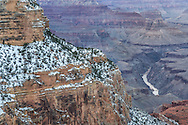 Grand Canyon, snow, Hopi Wall, Colorado River, West Rim, Arizona,