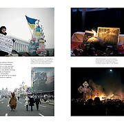 """Tearsheets of """"Kiev protests"""" published in Courrier Internacional"""