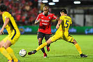NONTHABURI, THAILAND - JULY 02: Heberty of SCG Muangthong United in action during the second half of the Thai League: SCG Muangthong United vs Pattaya United at SCG Stadium, Nonthaburi, Thailand on July 02, 2017.<br /> .<br /> .<br /> .<br /> (Photo by: Naratip Golf Srisupab/SEALs Sports Images)<br /> .<br /> Any image use must include a mandatory credit line adjacent to the content which should read: Naratip Golf Srisupab/SEALs Sports Images