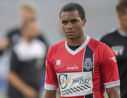 Ramón Rodrigues (FC Helsingør) under træningskampen mellem FC Helsingør og Næstved Boldklub den 19. august 2020 på Helsingør Stadion (Foto: Claus Birch).