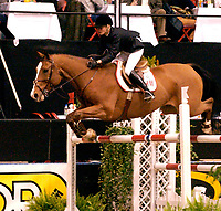 Rikstoto Grand Prix, Oslo Horse Show, Oslo Spektrum 19.10.02 <br />Saturday, October 19th 2002. ROYAL SON Z /  Malin BARYARD (SWE) <br />Foto: Geir Egil Skog, Digitalsport