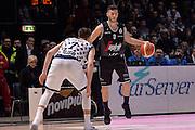 Marco Spissu<br /> Segafredo Virtus Bologna - Kontatto Fortitudo Bologna<br /> Campionato Basket LNP 2016/2017<br /> Bologna 06/01/2017<br /> Foto Ciamillo-Castoria