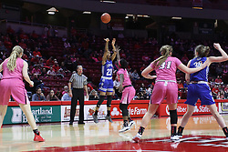 NORMAL, IL - February 10: Daijah Smith during a college women's basketball Play4Kay game between the ISU Redbirds and the Indiana State Sycamores on February 10 2019 at Redbird Arena in Normal, IL. (Photo by Alan Look)