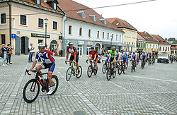Dami Zupi, Alojz Poglavc and other riders at finish in Novo mesto during 5th Stage from Dobrovnik to Novo mesto, 225 km at Day 5 of DOS 2021 Charity event - Dobrodelno okrog Slovenije, on May 1, 2021, in Slovenia. Photo by Vid Ponikvar / Sportida