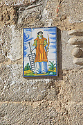 Ceramic tile picture of San Lorenzo, Garganta la Olla, La Vera, Extremadura, Spain