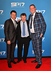 Former Scotland rugby union player Doddie Weir (right) during the red carpet arrivals for BBC Sports Personality of the Year 2017 at the Liverpool Echo Arena.