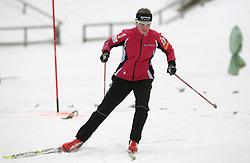 Slovenian cross-country skier Vesna Fabjan at Alpina presentation of new cross-country shoes with red dot award: product design, on April 24, 2008, in Pokljuka, Rudno polje, Slovenia.  (Photo by Vid Ponikvar / Sportal Images)/ Sportida)