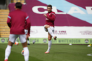 James Tarkowski of Burnley (5) warming up during the Premier League match between Burnley and Brighton and Hove Albion at Turf Moor, Burnley, England on 26 July 2020.