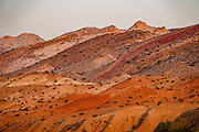 Hike a classic loop from Little Wild Horse Canyon to Bell Canyon, in the San Rafael Reef, Utah, USA. This great walk (an 8.6-mile circuit with 900 feet gain) is a short drive on a paved road from Goblin Valley State Park. The hike via fascinating narrow slot canyons and open mesas requires some scrambling over rocks, possibly through shallow water holes (which were dry for us on Sept 20, 2020 but wet in April 2006). Thanks to the greatest legislative victory in the history of SUWA (Southern Utah Wilderness Alliance), in 2019, Congress passed the Emery County Public Land Management Act, which declared 663,000 acres of wilderness, including Little Wild Horse Canyon Wilderness, in San Rafael Swell Recreation Area, Utah, USA. The Navajo and Wingate sandstone of the San Rafael Reef was uplifted fifty million years ago into a striking bluff which now runs from Price to Hanksville, bisected by Interstate 70 at a breach fifteen miles west of the town of Green River.
