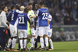 November 1, 2017 - Na - Porto, 01/11/2017 - Football Club of Porto received RasenBallsport Leipzig tonight in the Group G Champions League Match 4 at the Estádio do Dragão. Maxi boarded by colleagues after collective hug at the end of the game  (Credit Image: © Atlantico Press via ZUMA Wire)
