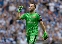 Football - 2017 FA Cup Final - Arsenal vs. Chelsea<br /> <br /> David Ospina of Arsenal celebrates after his team take the lead at Wembley.<br /> <br /> COLORSPORT/DANIEL BEARHAM