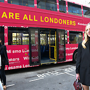 Alice Zielasho from Poland attend The Mayor of London, Sadiq Khan, launch a branded 'We are all Londoners' bus as it begins a four-day 'Advice Roadshow' around the capital. The bus will visit locations in areas with high numbers of European nationals, offering them guidance on how to apply for Settled to Status to remain in the UK following Brexit on 29 March 2019, London, UK.