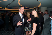 AMERICAN RESTAURANTER; THOMAS KELLER; GIZZI ERSKINE, The French Laundry reception to celebrate the October opening of the 10-day pop-up ' French laundry restaurant in Harrods. The Penthouse, Harrods. London. 31 August 2011.<br /> <br />  , -DO NOT ARCHIVE-© Copyright Photograph by Dafydd Jones. 248 Clapham Rd. London SW9 0PZ. Tel 0207 820 0771. www.dafjones.com.