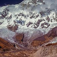 The South Face of Annapurna I & Annapurna Glacier in Annapurna Sanctuary, Nepal