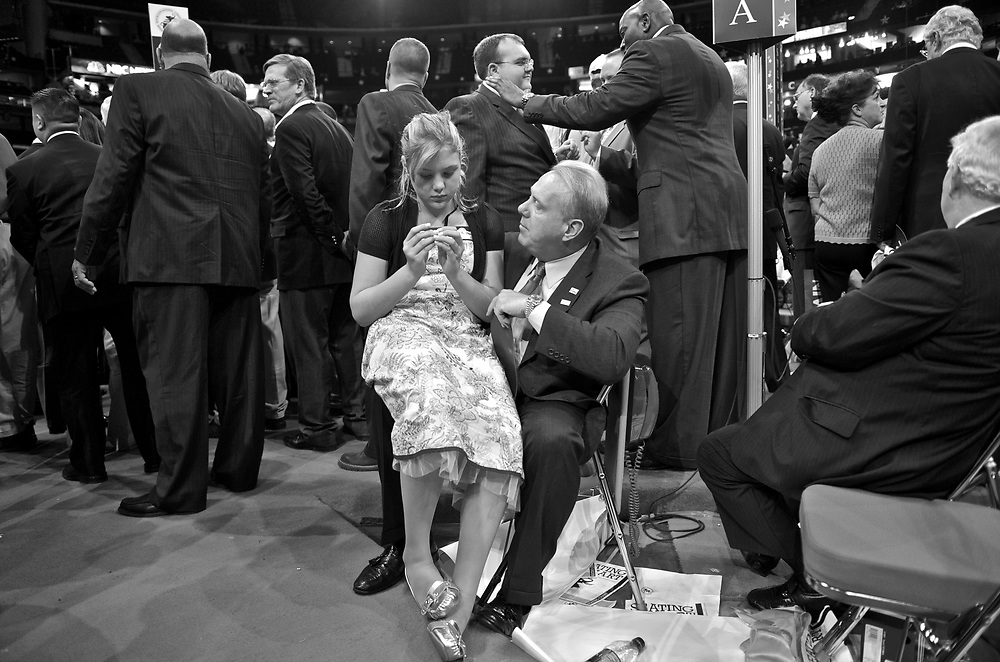 The 2008 Republican National Convention took place at the Xcel Energy Center in Saint Paul, Minnesota from September 1 until September 4.[1] The first day of the Republican convention was Labor Day, the last day of the popular Minnesota State Fair, though due to Hurricane Gustav, this day was mostly a call for action to help victims, without actual normal convention activities taking place, normal convention activities did not start until the second scheduled day.<br /> This was the latest any major party convention has ever been convened,[2] and the first one to take place entirely in September. Traditionally, the party who holds the White House has the opportunity to select the date of its convention second, and normally the challenging party holds their convention in July while the incumbent party holds its convention in August. This year, later dates were chosen for both conventions since the Democrats wanted to schedule their convention after the 2008 Summer Olympics ended, and the Republicans wanted to keep the political and financial advantages of going second.[3]<br /> The attending delegates at the convention nominated John McCain as the Republican Presidential candidate and Sarah Palin as the Vice-Presidential candidate for the 2008 Presidential election. 1,191 pledged delegates are necessary for a candidate to win the nomination. (Wikopedia)