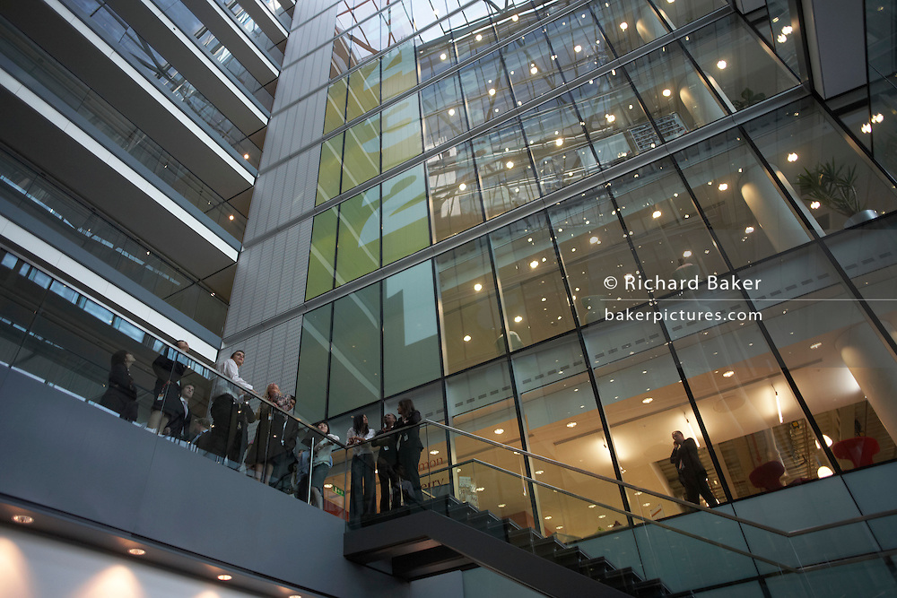 Guided tour of an auditing company's London headquarters