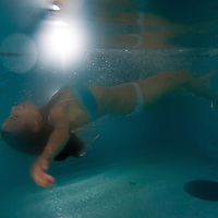 Participants  of the Beauty Queen contest have a bath in Hotel Abacus, Herceghalom, Hungary on July 07, 2011. ATTILA VOLGYI