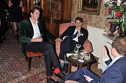 Left to right, OTIS FERRY and BEN ELLIOT at a dinner hosted by Edward Taylor and Alexandra Meyers in association with Johnnie Walker Blue Label held at Mark's Club, 46 Charles Street, London W1 on 26th April 2012.