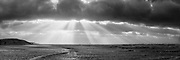 Nederland, Noord-Holland, Camperduin, 03-01-2018;  Laguna en strand bij hoog water en storm.<br /> Laguna and beach at high waters, North Holland coast.<br /> Gigapanorama (digital montage).<br /> copyright foto/photo Siebe Swart