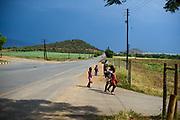 Children walking home, Kingdom of Swaziland / Eswatini